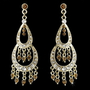 Elegance by Carbonneau E-804-Gold-Brown Earring 804 Gold Brown