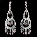 Elegance by Carbonneau E-804-Silver-Pink Earring 804 Silver Pink