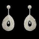 Elegance by Carbonneau E-812-Silver Unique & Stunning Silver Clear Earrings E 812