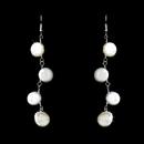 Elegance by Carbonneau E-8138 Four Drop Luster Coin Pearl Earrings E 8138