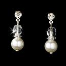 Elegance by Carbonneau E-8148-White Earring 8148 White