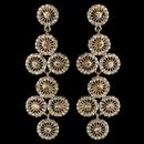 Elegance by Carbonneau E-82017-G-CL Gold Clear Rhinestone Retro Circle Wheel Dangle Earrings 82017