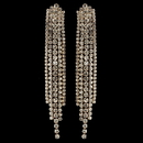 Elegance by Carbonneau E-82019-G-CL Gold Clear Rhinestone Dangle Earrings 82019