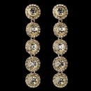 Elegance by Carbonneau E-82022-G-CL Gold Clear Rhinestone Pave Circle Dangle Earrings 82022