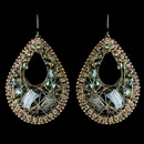 Elegance by Carbonneau E-82038-G-Olive Gold Olive Green Beaded & Rhinestone Hand Made Fashion Chandelier Earrings 82038