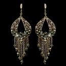 Elegance by Carbonneau E-82041-G-Olive Gold Olive Green & Clear Rhinestone Hand Made Chandelier Earrings 82041