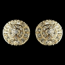 Elegance by Carbonneau E-82057-G-CL Gold Clear Rhinestone Stud Earrings 82057