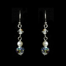 Elegance by Carbonneau E-8254 Freshwater Pearl & Swarovski Crystal Beach Bride Earrings E 8254