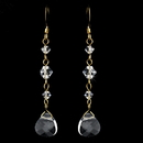 Elegance by Carbonneau E-8270-Gold-Clear Earring 8270 Gold Clear