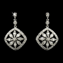 Elegance by Carbonneau E-8275-AS-Clear Vintage Cubic Zirconia Earring 8275