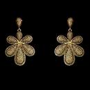 Elegance by Carbonneau E-8293-Gold-Brown Gold Brown Chandelier Vintage Earrings 8293