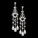 Elegance by Carbonneau E-8318-Silver Silver Swarovski Bridal Chandelier Earrings E 8318
