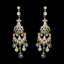 Elegance by Carbonneau E-8319-Gold Gold Bridal Chandelier Earrings E 8319