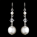 Elegance by Carbonneau E-8355-White Earring 8355 White