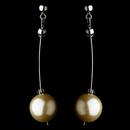 Elegance by Carbonneau E-8358-Silver-Ivory Modern Champagne Pearl Dangle Earrings 8358