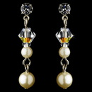Elegance by Carbonneau E-8365-Silver-Ivory-AB Earring 8365 Silver Ivory AB