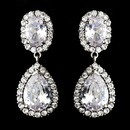 Elegance by Carbonneau E-8483-AS-Clear-clip Ravishing Silver Clear CZ Clip On Earrings 8483