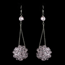 Elegance by Carbonneau E-8551-Pink Pink Beaded Ball Earring Set 8551