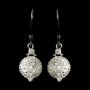 Elegance by Carbonneau E-8578-AS-Clear Antique Rhodium Silver Clear CZ Pave Circle Drop Earrings 8578