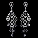 Elegance by Carbonneau E-8627-AS-Clear Radiant Silver Clear CZ Chandelier Earrings 8627