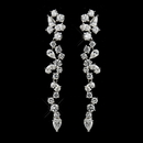 Elegance by Carbonneau E-8654-AS-Clear Antique Silver Clear CZ Crystal Dangle Bridal Earrings 8654