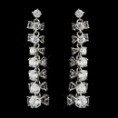 Elegance by Carbonneau E-8673-AS-Clear Silver Clear Round CZ Crystal Bridal Dangle Bridal Earrings 8673