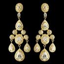 Elegance by Carbonneau E-8677-G-CL Gold Clear Teardrop CZ Crystal Chandelier Earrings 8677