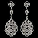 Elegance by Carbonneau E-8685-RD-CL Silver Clear Rhinestone Dangle Earrings 3824