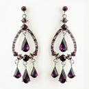 Elegance by Carbonneau E-8686-S-Amethyst Silver Amethyst Crystal & Rhinestone Chandelier Bridal Earrings 8686