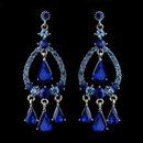 Elegance by Carbonneau E-8686-S-Blue Silver Blue Sapphire Crystal & Rhinestone Chandelier Bridal Earrings 8686