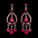 Elegance by Carbonneau E-8686-S-Fuchsia Silver Fuchsia Crystal & Rhinestone Chandelier Bridal Earrings 8686