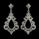 Elegance by Carbonneau E-8688-AS-Clear Antique Silver Clear Rhinestone Chandelier Bridal Earrings 8688