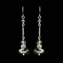 Elegance by Carbonneau E-8741-S-Clear Silver Clear Crystal Drop Bridal Earrings 8741