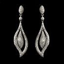 Elegance by Carbonneau E-8754-AS-Clear Antique Silver Clear CZ Crystal Bridal Dangle Bridal Earrings 8754