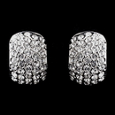 Elegance by Carbonneau E-8927-AS-Clear Antique Silver Clear CZ Crystal Earrings 8927
