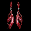 Elegance by Carbonneau E-8941-S-Red Red Rhinestone Dangle Earring 8941