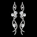 Elegance by Carbonneau E-8942-AS-Clear Antique Silver Clear Rhinestone Dangle Earrings 8942