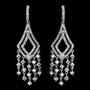 Elegance by Carbonneau E-9002-AS-Clear Antique Silver Clear CZ Crystal Chandelier Earrings 9002