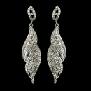 Elegance by Carbonneau E-9252-S-Clear Silver Clear Crystal Rhinestone Dangle Bridal Earrings 9252