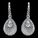 Elegance by Carbonneau E-9261-SS-Clear Solid 925 Sterling Silver Clear CZ Crystal Teardrop Center Earrings 9261