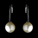 Elegance by Carbonneau E-9267-S-Ivory Silver Ivory Pearl Drop Earring 9267