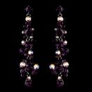 Elegance by Carbonneau E-938-Dark-Amethyst Earring 938 Dark Amethyst