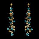 Elegance by Carbonneau E-938-Gold-Turquoise Earring 938 Gold Turquoise