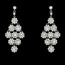 Elegance by Carbonneau E-939-Silver-Clear Glamorous Silver & Clear Chandelier Earrings E 939