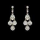 Elegance by Carbonneau E-940-Gold-Clear Beautiful Gold Earrings E 940