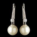 Elegance by Carbonneau E-9407-RD-DW Rhodium Clear CZ Crystal & Diamond White Pearl Leverback Drop Earrings 9407