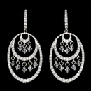 Elegance by Carbonneau E-944-Silver-Clear Stunning Silver Crystal Earrings Hoop E 944