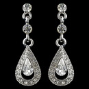 Elegance by Carbonneau E-9451-RD-CL Rhodium Clear Rhinestone Vintage Drop Earrings