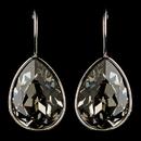Elegance by Carbonneau E-9602-S-Greige Silver Greige Light Grey Swarovski Crystal Element Teardrop Leverback Earrings 9602