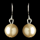 Elegance by Carbonneau E-9715-S-IV Silver Ivory Pearl Hook Drop Earrings 9715